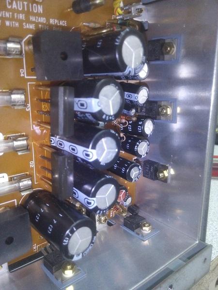 akai GX-77 αντικατάσταση ηλεκτρολυτικών πυκνωτών