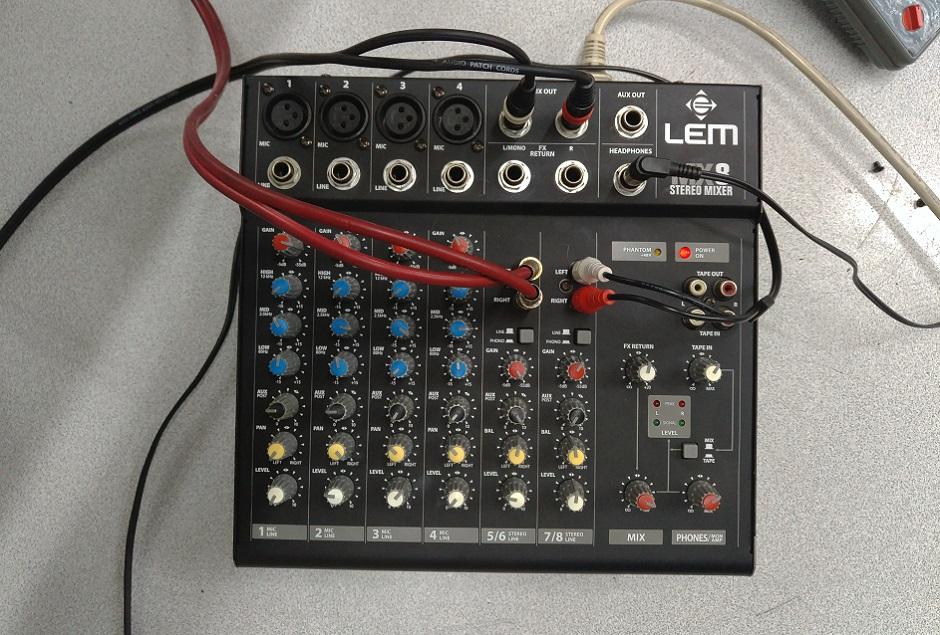 stereo mixer lem mx8