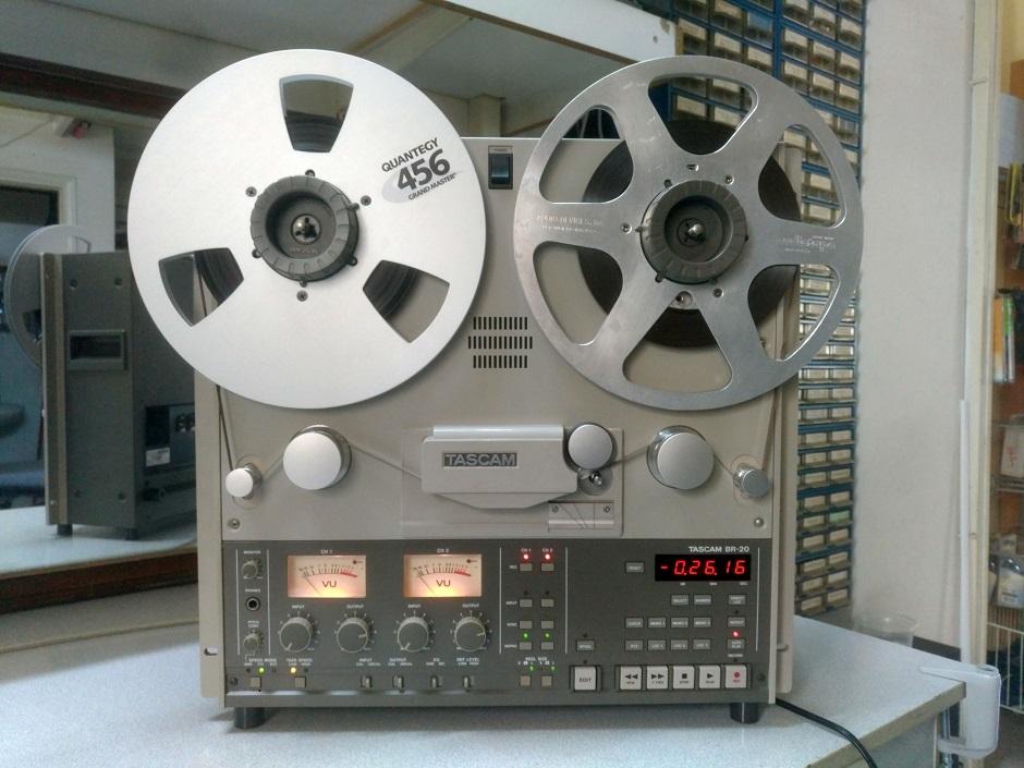 tascam br-20 reel to reel service sound