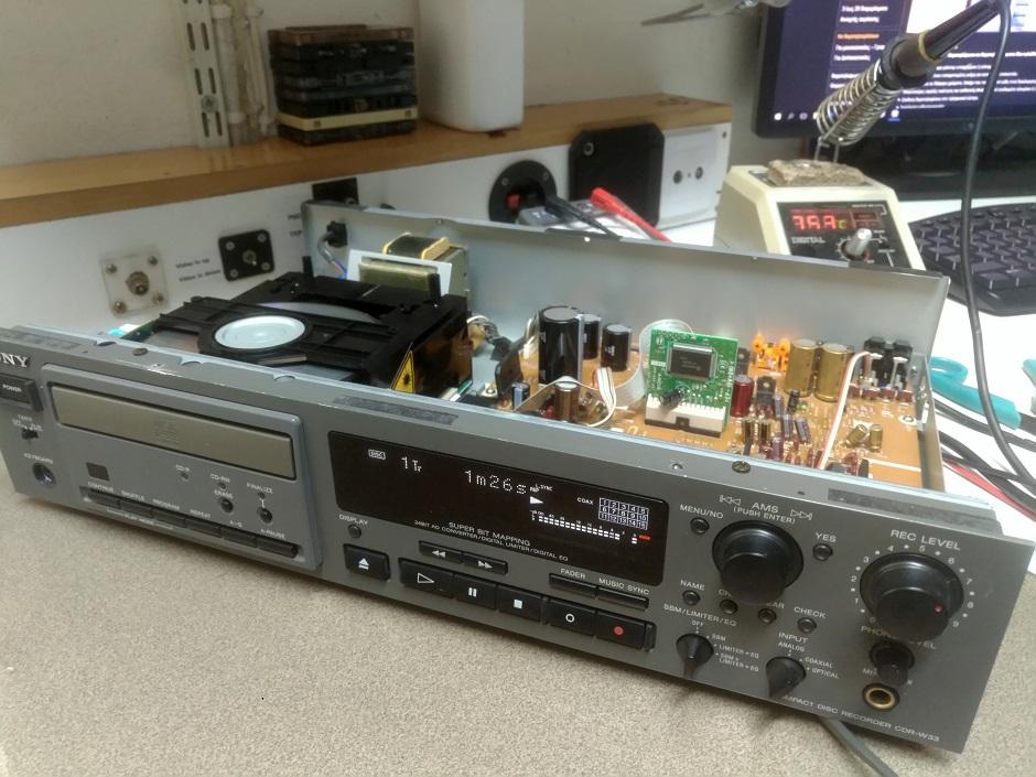 επισκευή cd recorder sony cdr-w33