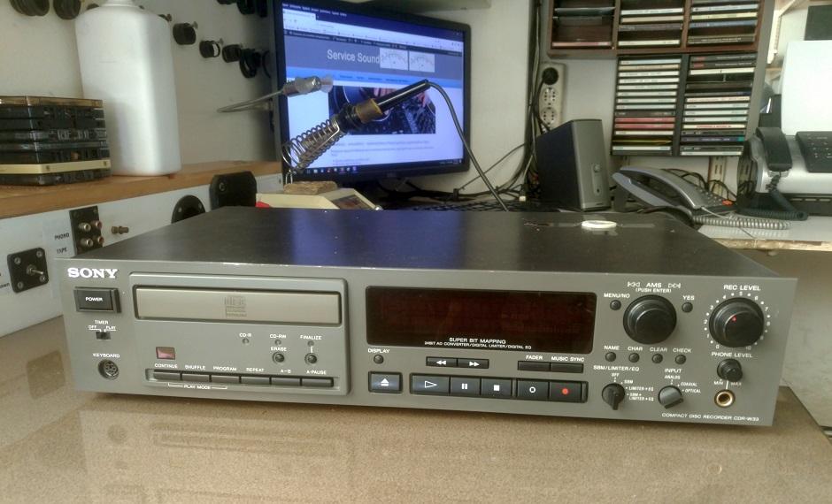Επισκευή cd εγγραφής sony cdr-w33