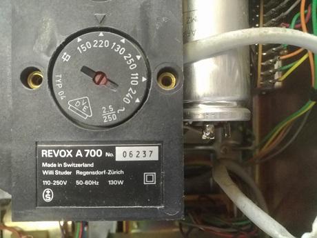 revox serial 06327