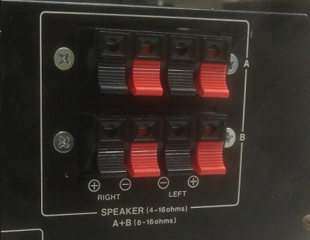 speaker push connectors