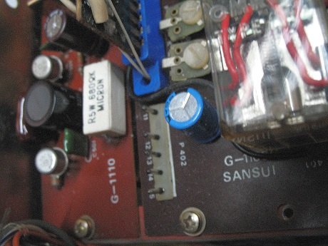 αντικατάσταση ηλεκτρολυτικών πυκνωτων σε μπομπινόφωνο sansui