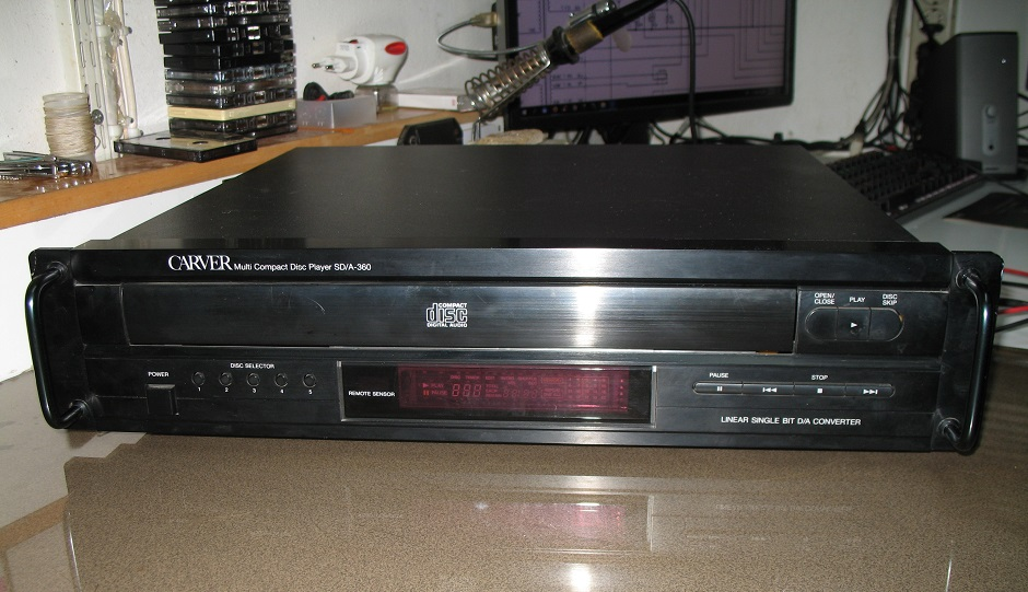 carver compact disc player sd-a-360