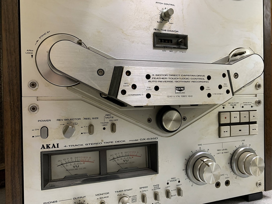 4 track reel to reel akai gx 635d for service
