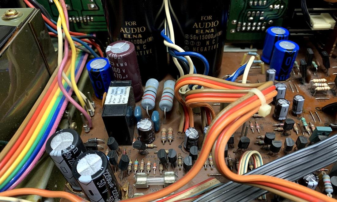 luxman l410 capacitors